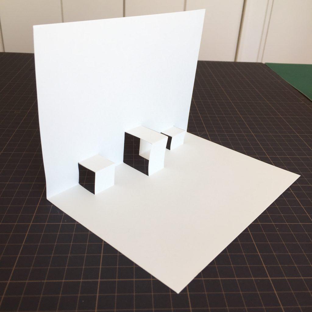 折り紙イス型