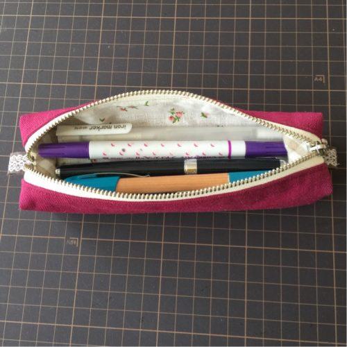ペンケースにペンを入れたところ